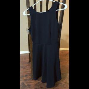 Super Cute Open Back Black Dress